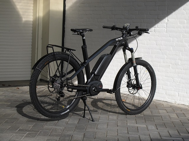 black electric bike