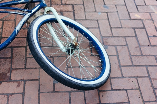 Closer View Of Bicycle Tyre and Rim
